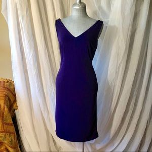 Carmen Marc Valvo intrigue purple dress
